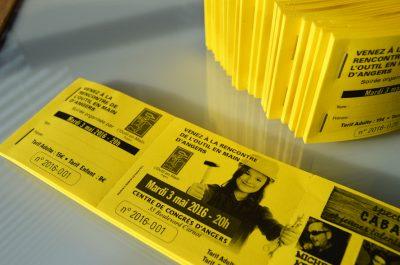 Carnet tickets spectacle numérotés